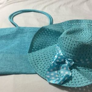 Summer tote bag and hat